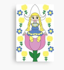 Sitting In The Tulips Canvas Print