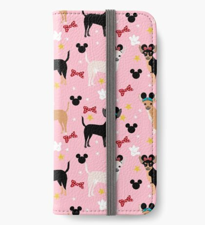 chihuahua theme park lover dog breed pattern gifts iPhone Wallet