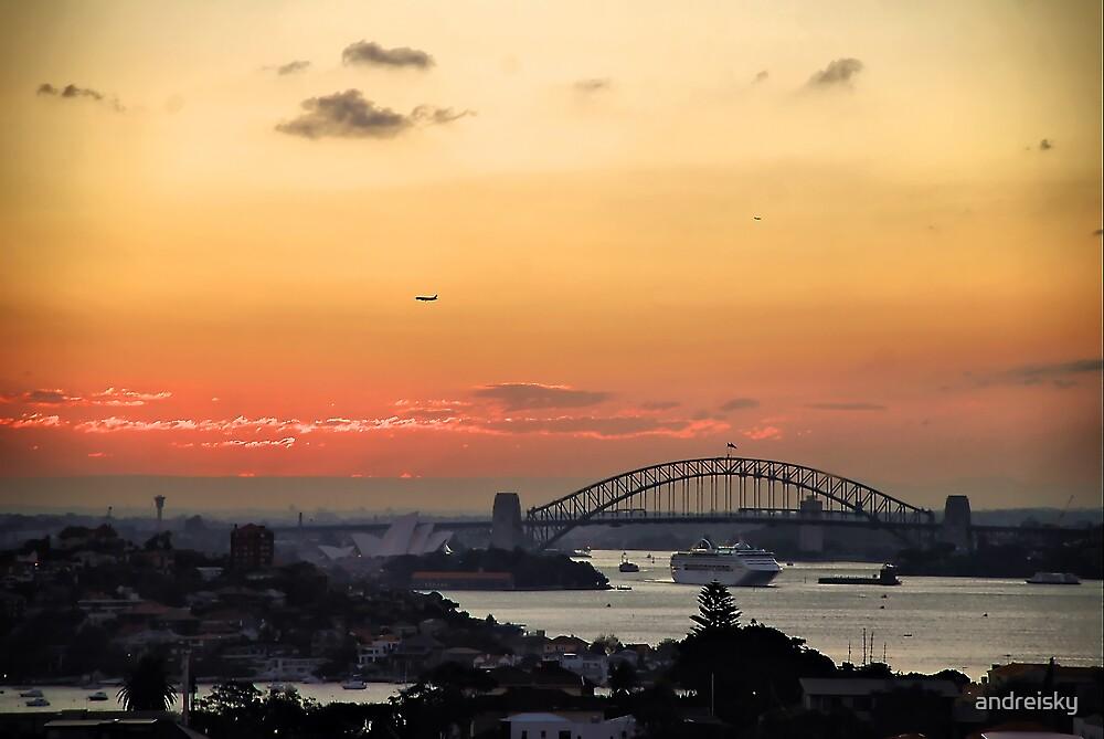 Harbour Bridge at twilight by andreisky