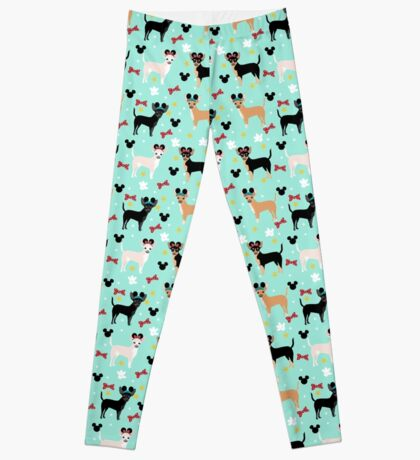 chihuahua theme park lover dog breed pattern gifts Leggings