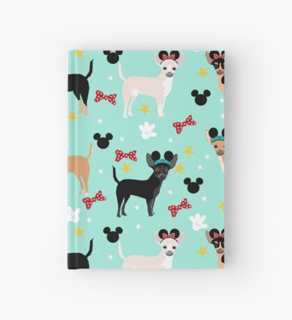 chihuahua theme park lover dog breed pattern gifts Hardcover Journal