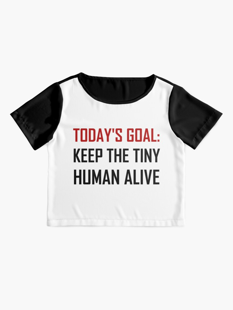 Alternate view of Goal Keep Tiny Human Alive Chiffon Top