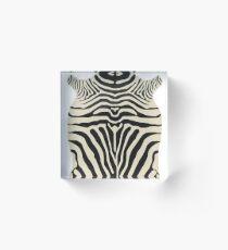 Zebra Acrylic Block