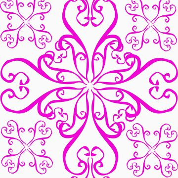 Pink swirl pattern by JAZY