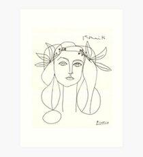 Lámina artística Bosquejo de Picasso