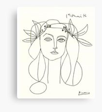 Picasso-Skizze Leinwanddruck
