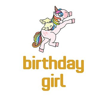 Awesome Unicorn Birthday Girl Design #9 by 198tees
