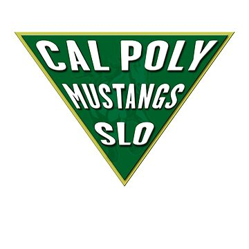 Cal Poly Mustangs Triangle by MomMcWin