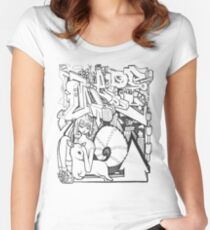 Blackbook Sketching 2 Women's Fitted Scoop T-Shirt