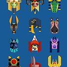 Egyptian Gods by artkarthik