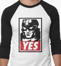 """""""YES!"""" Men's Baseball ¾ T-Shirt"""