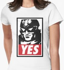 """""""YES!"""" Women's Fitted T-Shirt"""