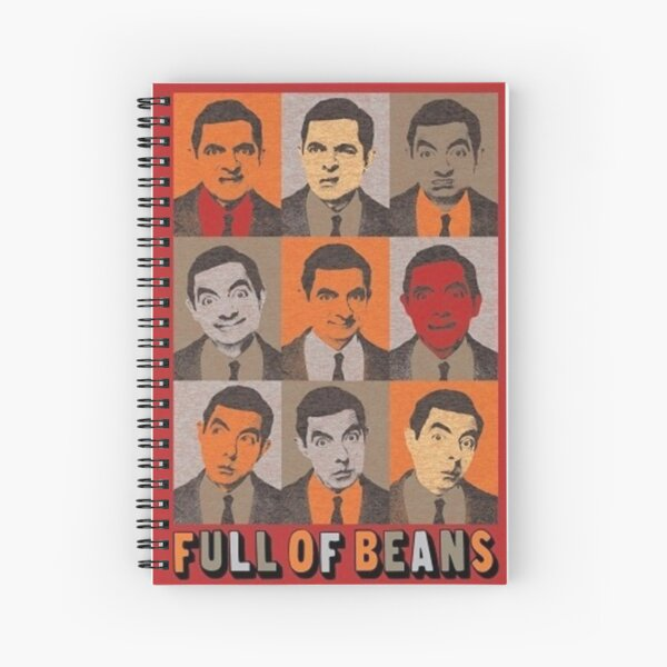 Full of beans gift for girls and boys men and women funny exclusive Spiral Notebook