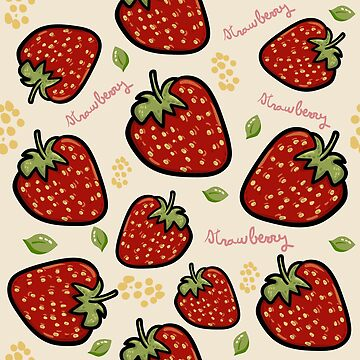 Strawberries pattern illustration by isabelrb