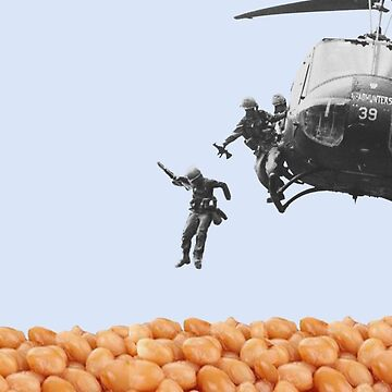 Vietnam War Soldiers Jump Into Beans by JAMESWOODFORD