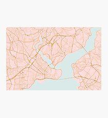 Istanbul map, Turkey Photographic Print