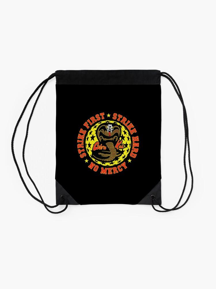 Alternate view of Cobra kai - Strike Three HD Logo Drawstring Bag