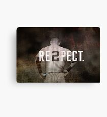 New York Yankee Derek Jeter Respect Print Canvas Print
