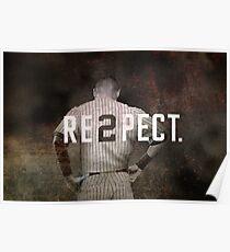 New York Yankee Derek Jeter Respect Print Poster