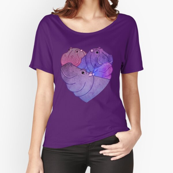 Heart Hippos Relaxed Fit T-Shirt