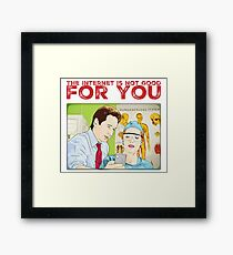 X files The Internet is not good for you by Mimie Framed Print