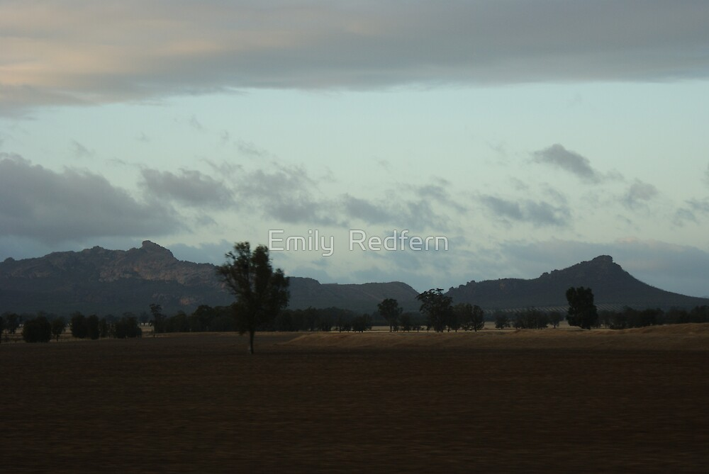 The Grampians At About 6am. by Emily  Redfern