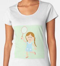 Cute girl illustration  Women's Premium T-Shirt