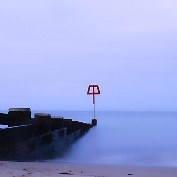 Swanage Beach Groyne  by JAMESWOODFORD