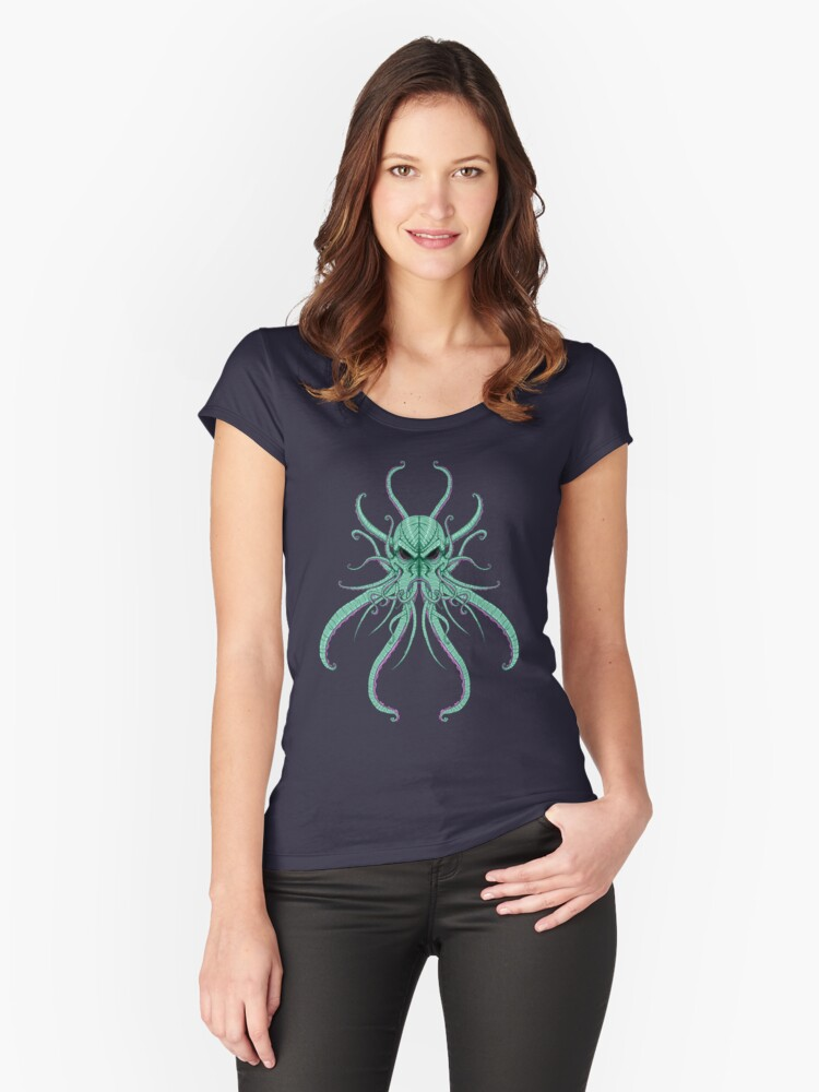 The cthulhu Women's Fitted Scoop T-Shirt Front