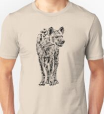 Spotted Hyena in Graphic Black and White Unisex T-Shirt
