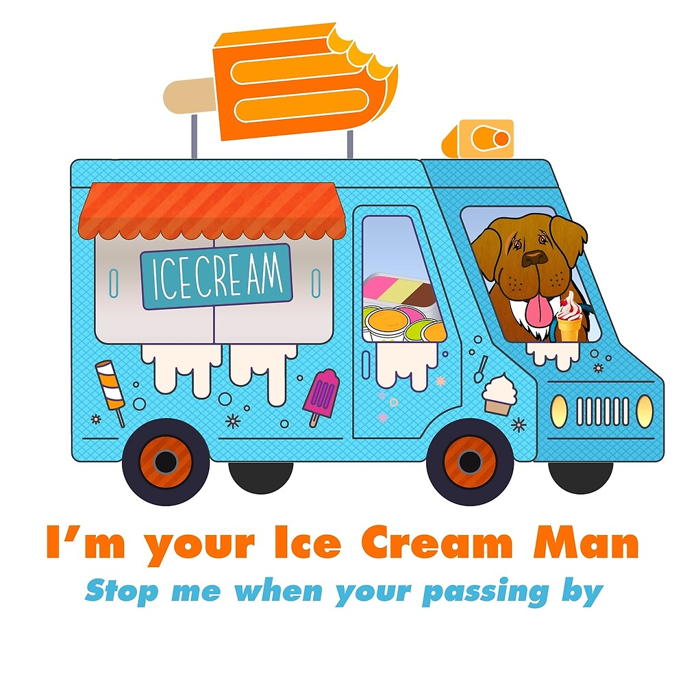 I'm Your Ice Cream Man (aka Brown Newfie) by Christine Mullis