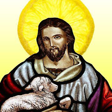 Jesus with Lemon Halo by JAMESWOODFORD