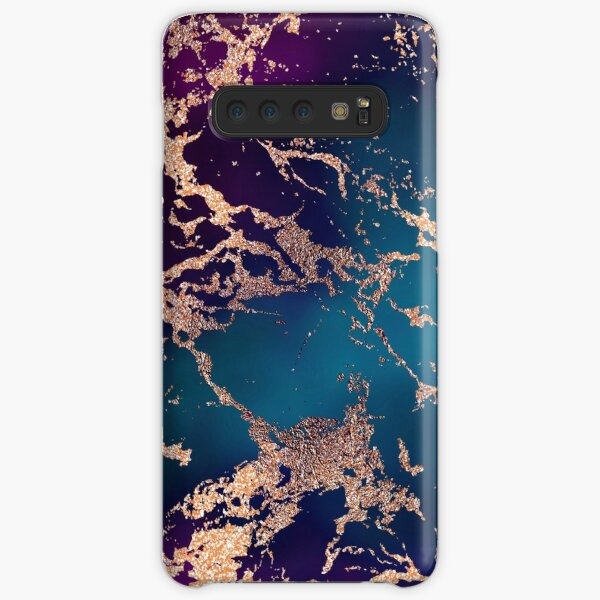 Jewel Tone Rose Gold Marble | Turquoise Blue and Purple Samsung Galaxy Snap Case