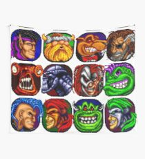 Rock N' Roll Racing Characters Wall Tapestry