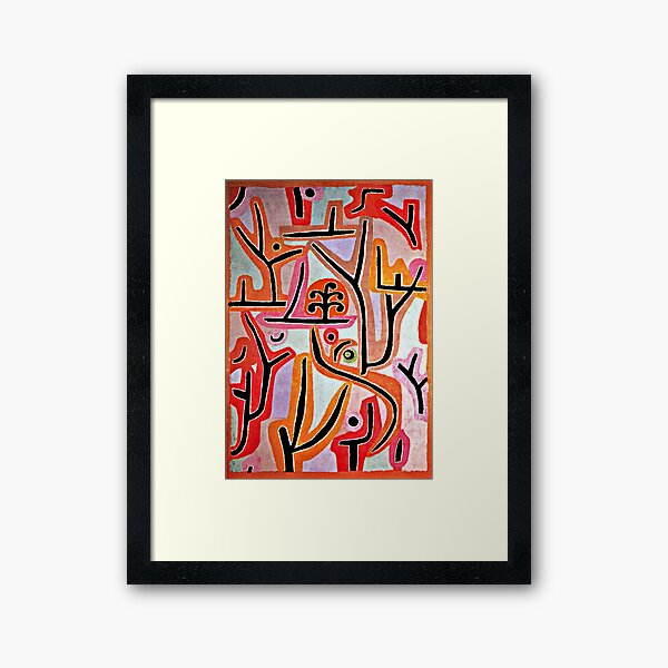 Klee - Park Bei Lu, popular Paul Klee artwork Framed Art Print