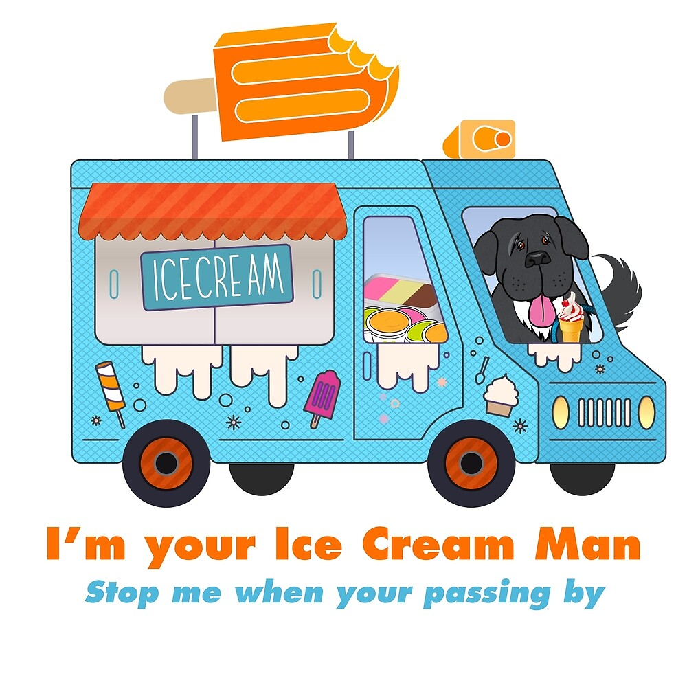 I'm Your Ice Cream Man (aka Black Newfie) by Christine Mullis