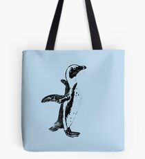 African Penguin in Graphic Black and White Tote Bag