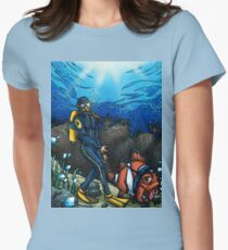 The Walking Fish Women's Fitted T-Shirt