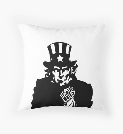 SAY IT LOUD: Uncle Sam Throw Pillow
