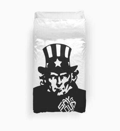 SAY IT LOUD: Uncle Sam Duvet Cover