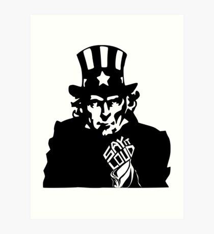 SAY IT LOUD: Uncle Sam Art Print