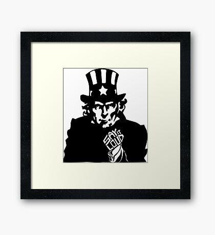SAY IT LOUD: Uncle Sam Framed Print