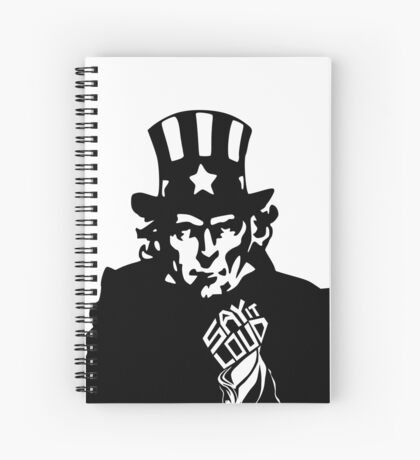 SAY IT LOUD: Uncle Sam Spiral Notebook