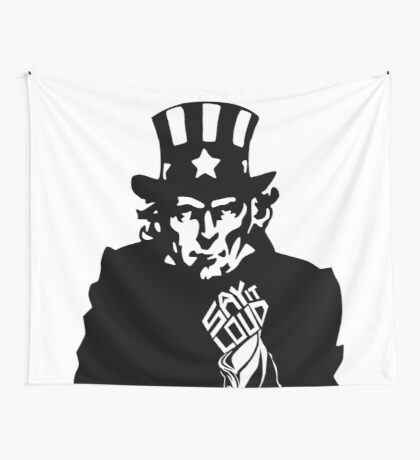 SAY IT LOUD: Uncle Sam Wall Tapestry