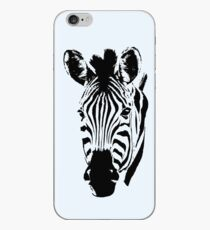Zebra Close-up in Graphic Pen and Ink Style iPhone Case