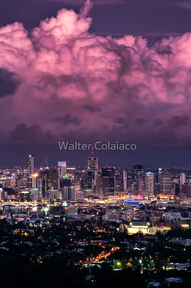 City at Sunset by Walter Colaiaco