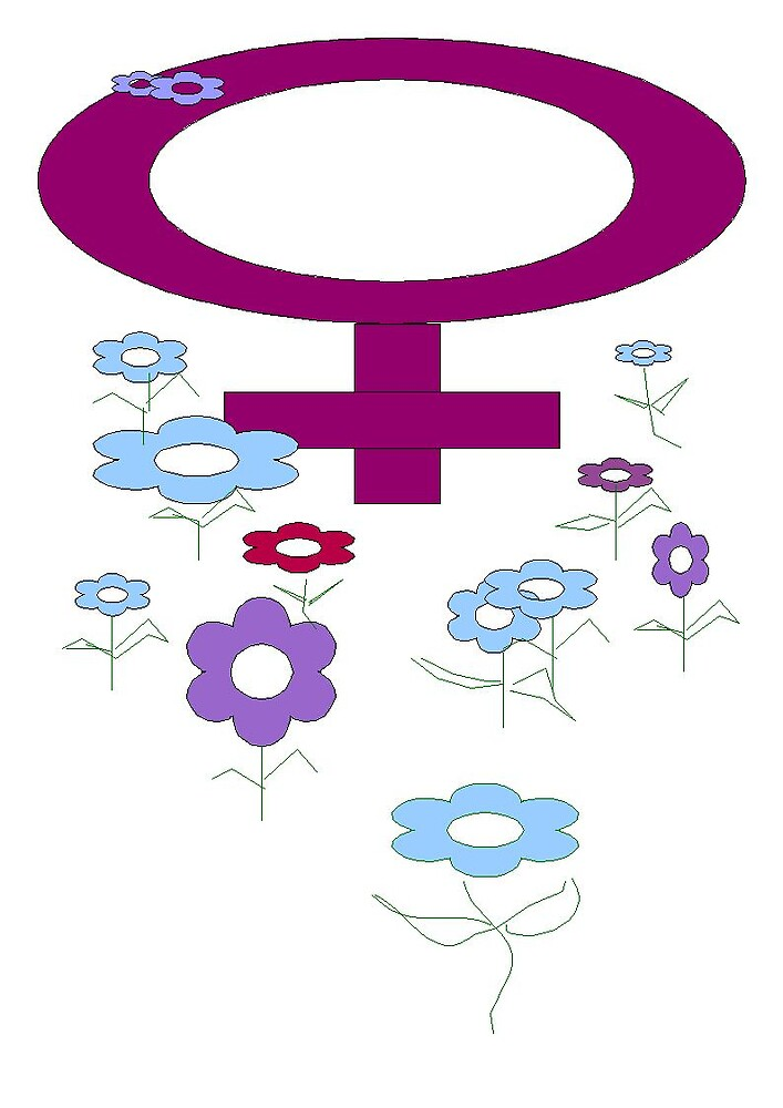 Female symbol with flowers by Daisy500