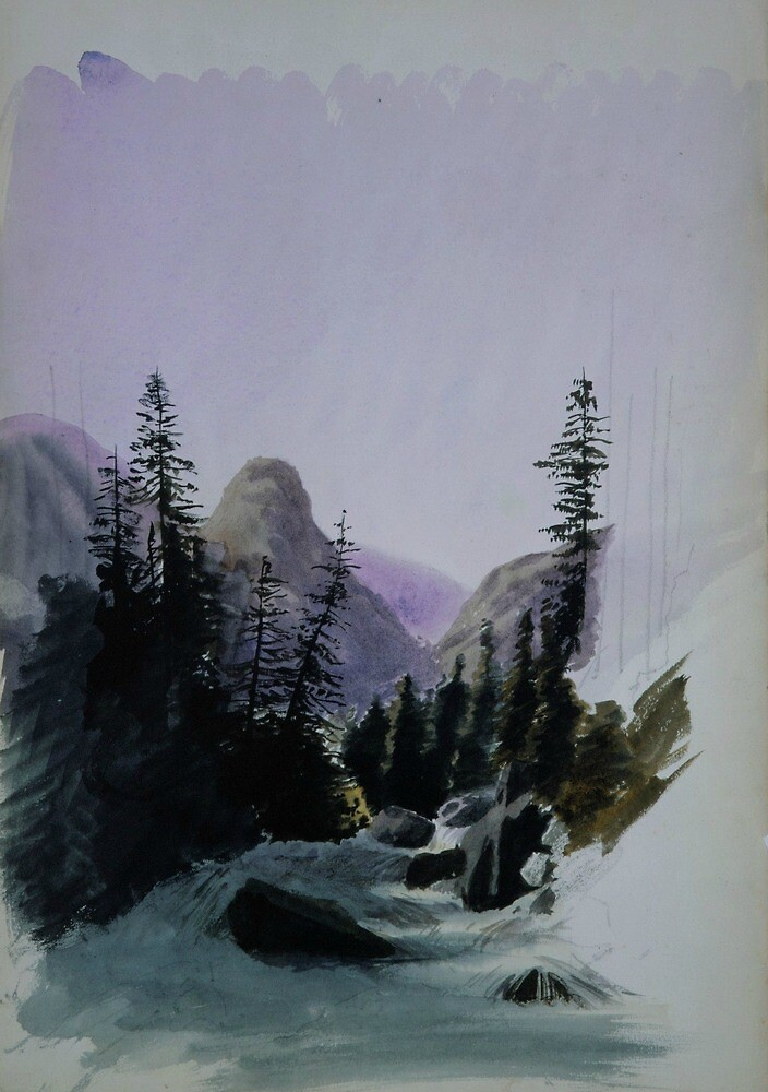 Alpine View, Murren by John Singer Sargent by classicartcache