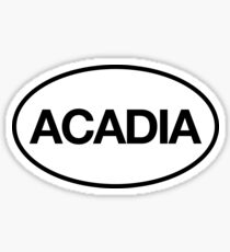 Acadia Maine For Outdoor Adventure Sticker