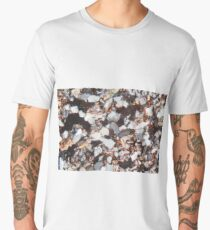 Thin section of a fine grained sandstone under the microscope and in polarized light. Men's Premium T-Shirt